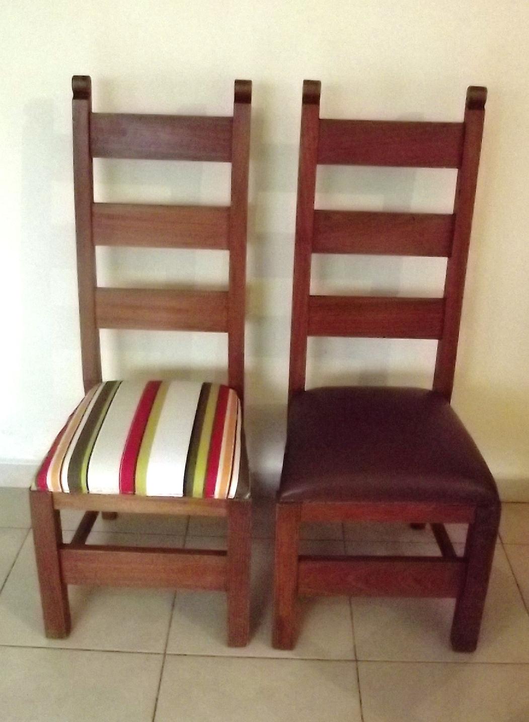 Antes e depois: cadeiras da mesa de jantar passam por reforma e ficam  #AB2040 1051x1434
