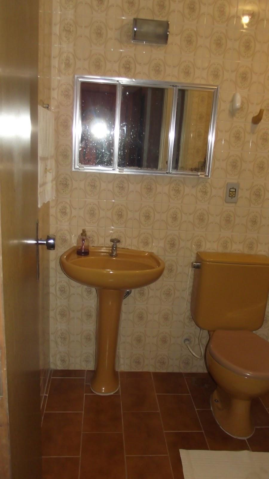 Mais um antes e depois banheiro  se fosse na minha casa -> Cuba Para Banheiro Caramelo