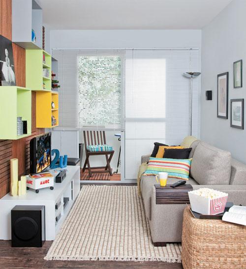 Salas compactas como aproveitar melhor o espa o se - Decorar cama como sofa ...