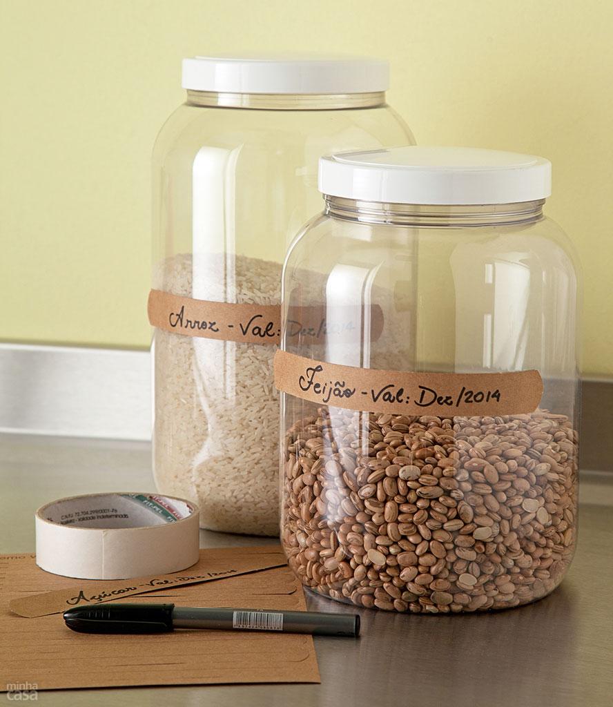 Reciclagem Se Fosse Na Minha Casa ~ Potes Decorativos Para Cozinha
