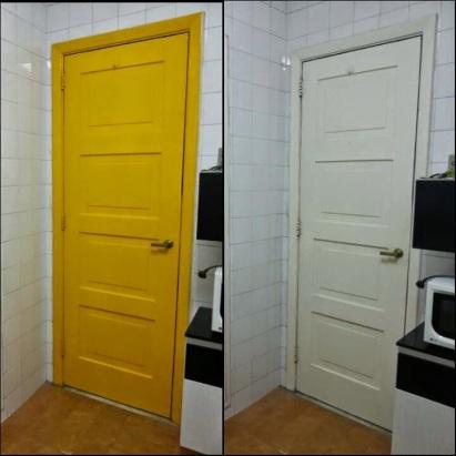 porta amarela