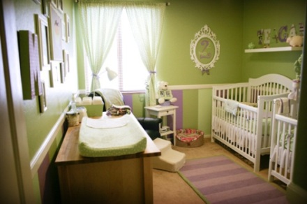decoracao-quarto-bebe-gemeos-verde