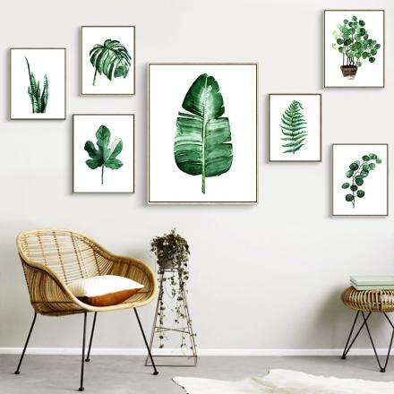 Nowoczesne-Wall-Art-Obraz-Na-P-tnie-Obraz-Nordic-Zielone-Ro-liny-Plakaty-I-Reprodukcje-Dzieci